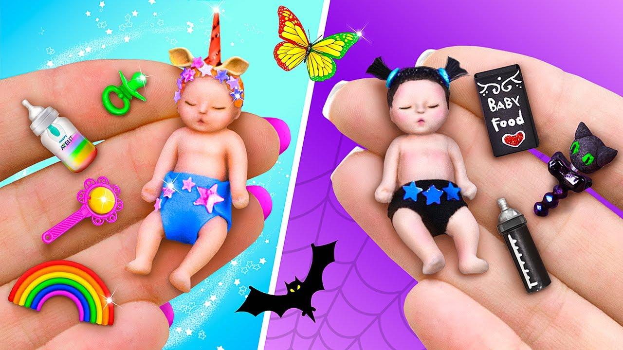 17 Trucos y Manualidades en Miniatura / Bebés Oscuros y Arcoíris