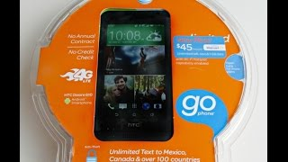 Unboxing HTC Desire 610 AT&T Prepaid GoPhone LTE