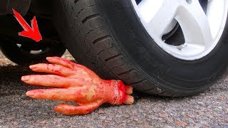 EXPERIMENT: CAR VS Zombie Hand