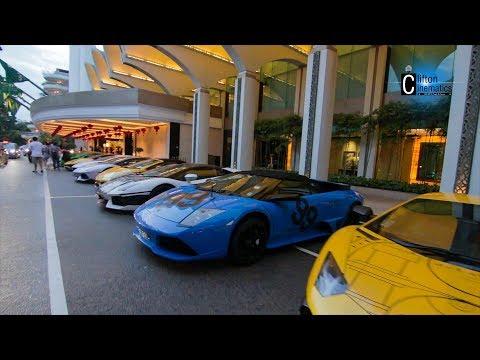 Lamborghini Club Singapore Arrival to Shangri-La Singapore 2018