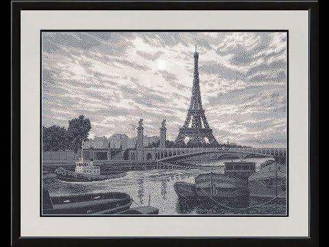 """Вышивка крестом: Золотое руно """"Париж"""". Отчет 01"""