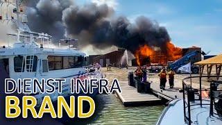 Brand in gebouw op Marker Wadden   Politieboot   Politie dienst INFRA Aflevering 1