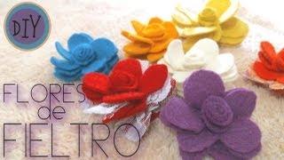 DIY Flores de fieltro,felt flowers Thumbnail