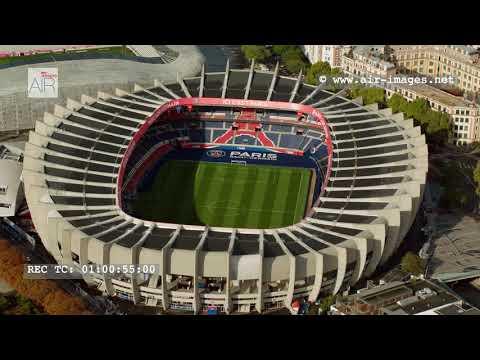 "Aerial Footage The stadium Paris ""Parc des Princes"""
