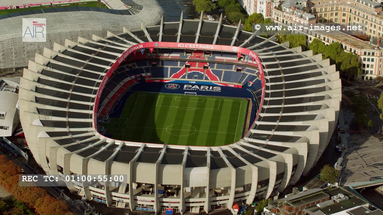 "Aerial Footage The stadium Paris ""Parc des Princes"" - YouTube"
