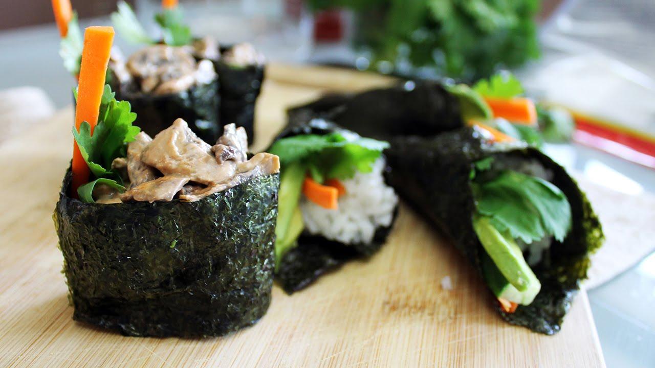 How to Make Gunkan Maki Nigiri // Spicy Mayo Mushroom Sushi Recipe   Mary's Test Kitchen