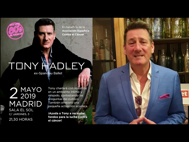 Tony Hadley - Anuncio velada benéfica en la sala El Sol de Madrid