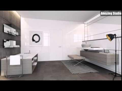 Weiss Taupe Badezimmer Dekor Youtube