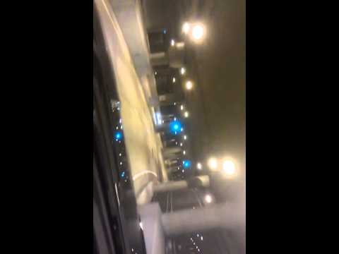 Train in Chicago tunnel