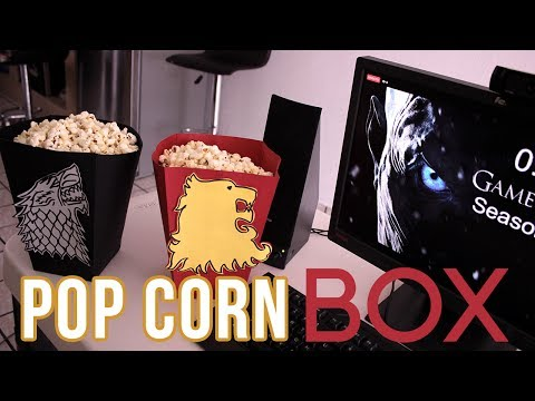 Caja para Palomitas de GAME OF THRONES | Popcorn Box #GOT | DIY