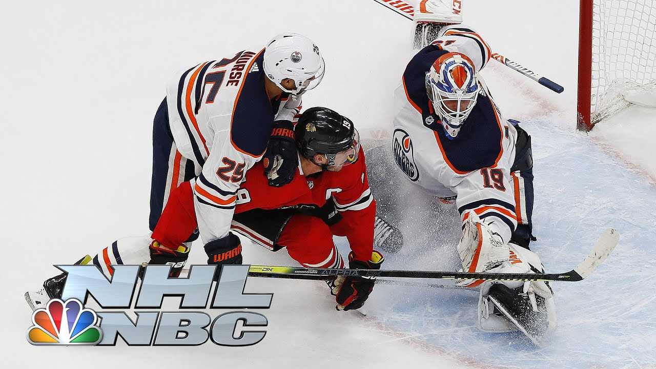 NHL Stanley Cup Qualifying Round: Oilers vs. Blackhawks   Game 4 EXTENDED HIGHLIGHTS   NBC Sports
