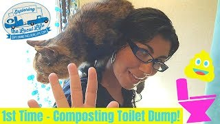 Dumping our RV Compositing Toilet 🚽 - Airhead Composting Toilet