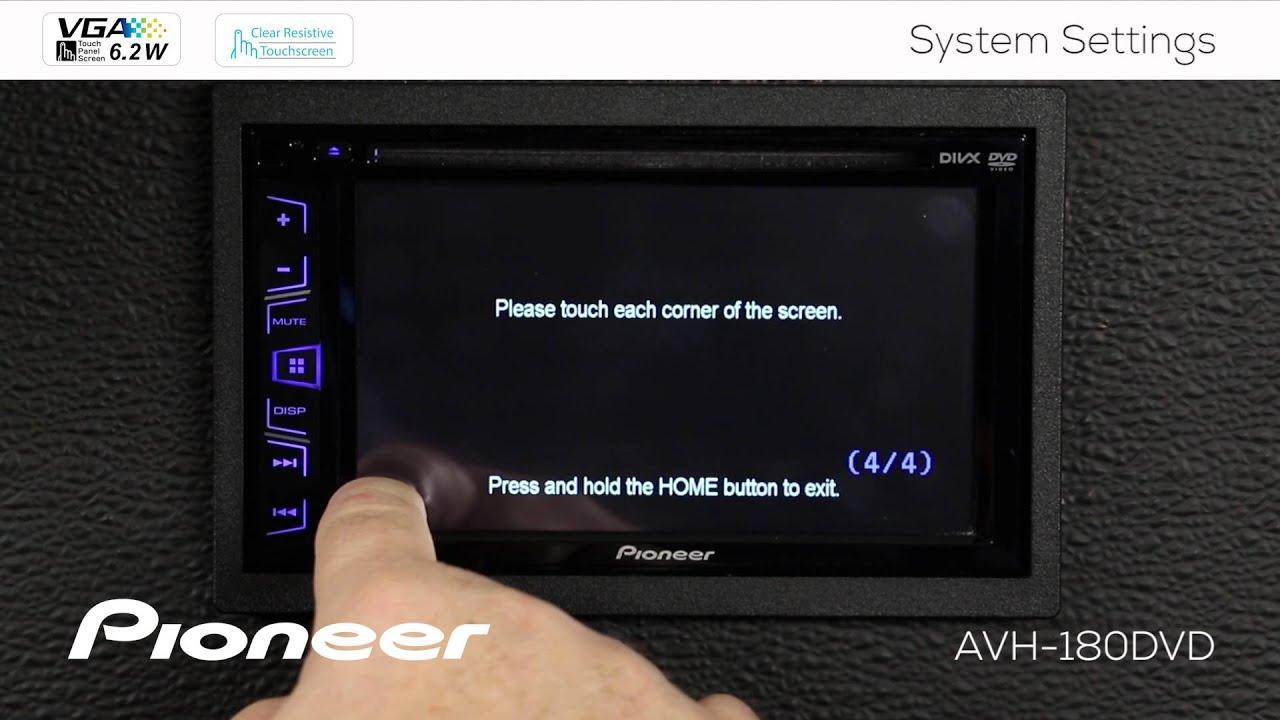 How To - AVH-180DVD - System Settings