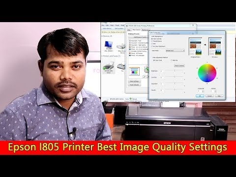 Epson L805 printer best image quality settings in Hindi tuto