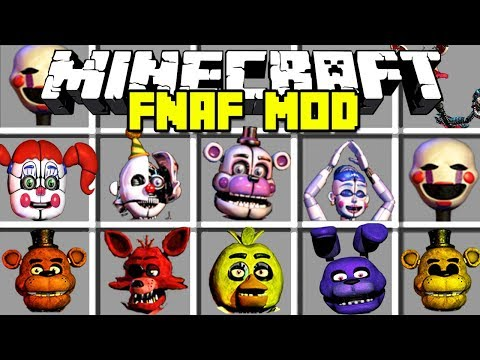 Minecraft SCARY FIVE NIGHTS AT FREDDY'S MOD!   FREDDY, FOXY, BONNIE AND MORE!   Modded Mini-Game