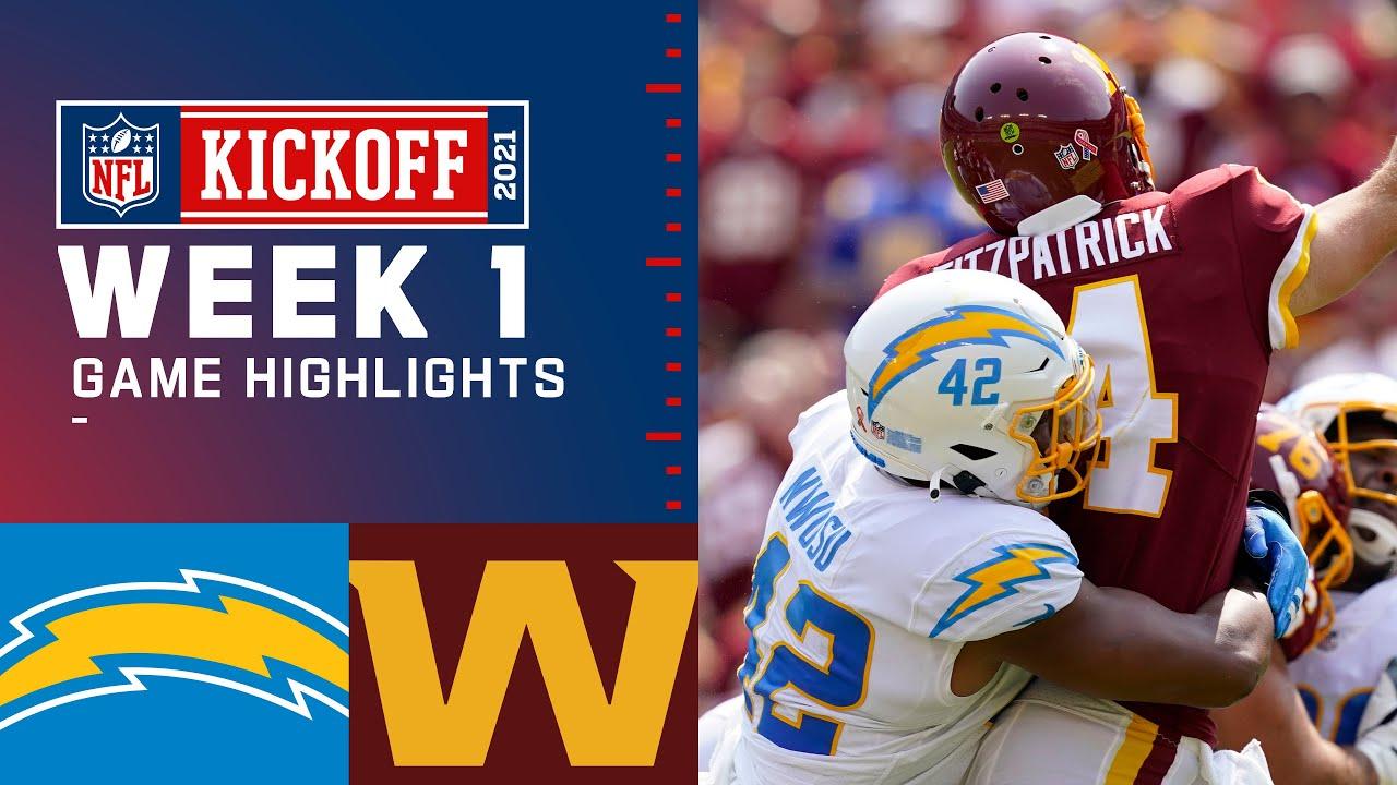 Download Chargers vs. Washington Football Team Week 1 Highlights   NFL 2021