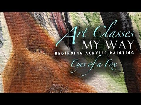 Beginner Acrylic Painting: Fox Eye