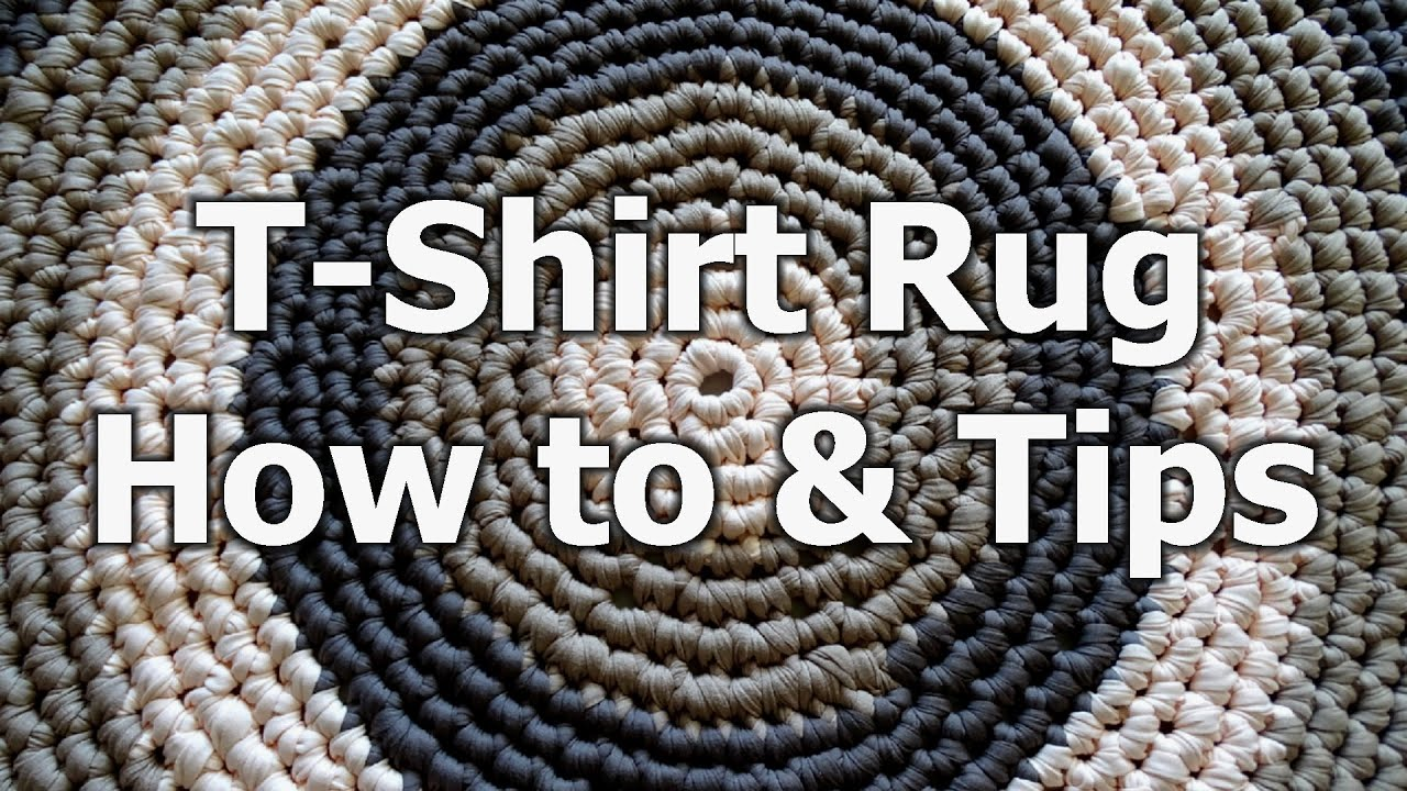 Crochet T Shirt Yarn Rug - How to