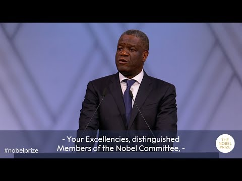 Denis Mukwege: Nobel Peace Prize lecture 2018 (English subtitles)