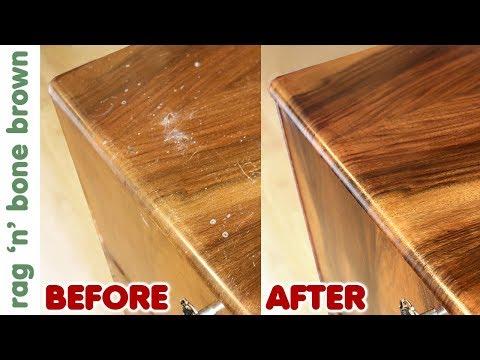 Restoring A Cocktail Cabinet & Veneer Repair