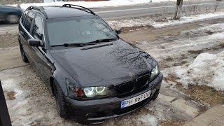 BMW 320d E46 150hp Straight Pipe - First run