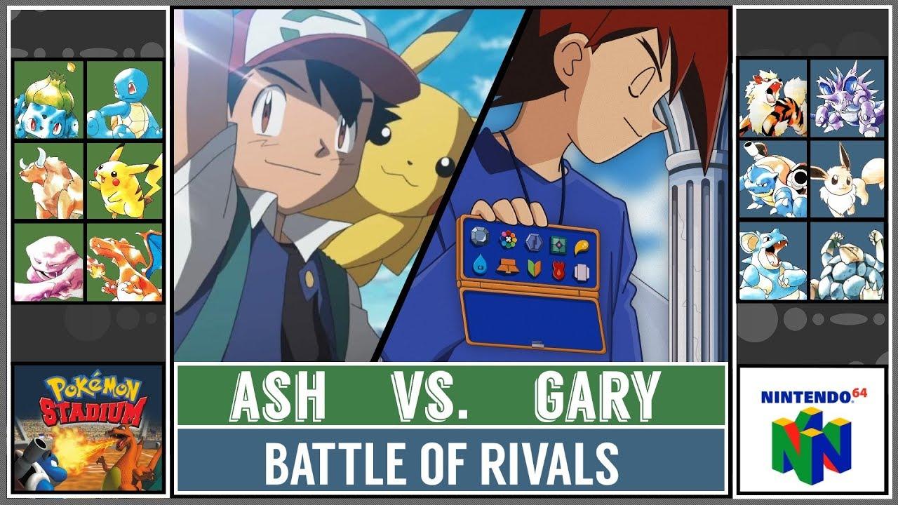 37841c13fa3 Ash Ketchum vs. Gary Oak (Pokémon Stadium) - Kanto Rival Battle ...