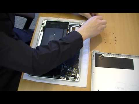 MacBook Air battery removal
