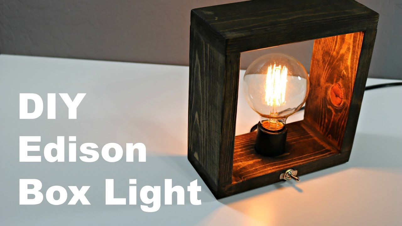 DIY Edison Box Light - YouTube