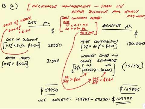 """ACCA F9 Revision Receivables management: Pilot Paper Question """"Ulnad"""""""