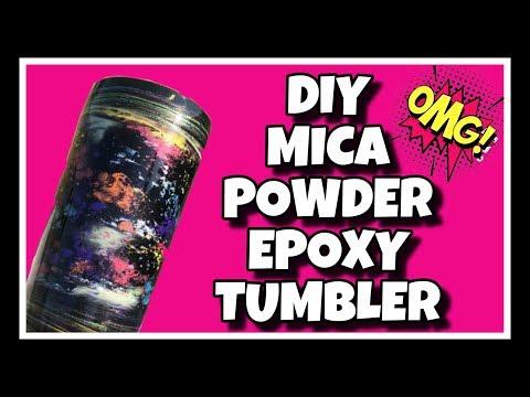 DIY Mica Powder Epoxy Tumbler