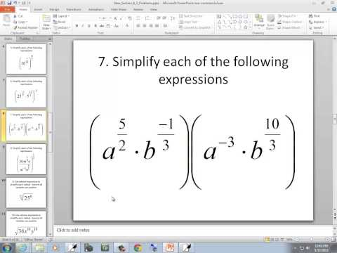 Intermediate Algebra: Simplify Expressions Using the Laws of Exponents