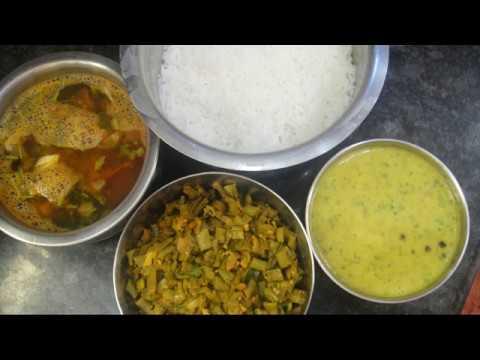 simple-lunch-menu- -my-summer-lunch- -parrupu-poriyal-rasam- -#lunchmenu-#gowrisamayalarai