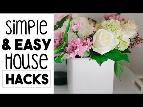 Simple and EASY House HACKS | 5 Decorating and Organizing Tips!