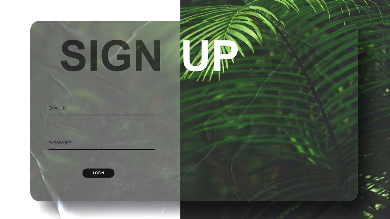 Login Form with Glass Effect | CSS Tutorial | Daft Creation