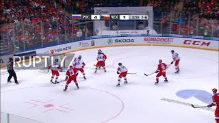 Highlights of Russia- Czechoslovakia showdown at 2018-2019 Euro Hockey Tour