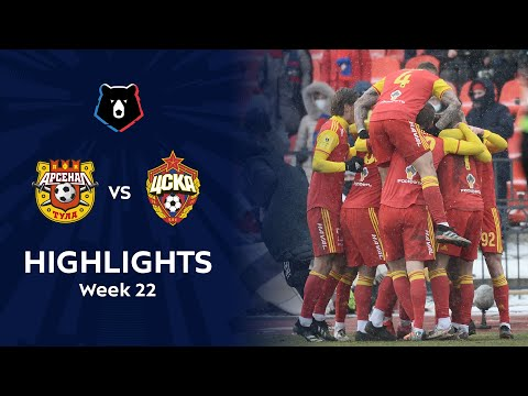 Arsenal Tula CSKA Moscow Goals And Highlights