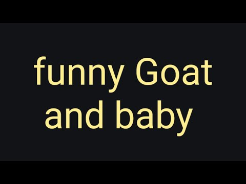 Funny  Goat And Baby|| Funny Video Ideas||whatsapp Status Funny Baby || MadinaliveTuberirshad