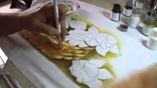 Pintando cesta quadrada com Soraya Carneiro