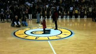 Awesome 4 year old Jillian Harris sing National Anthem
