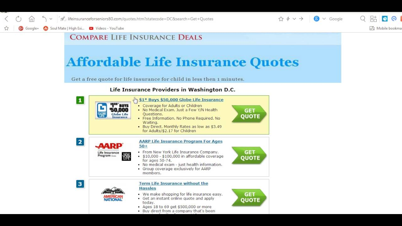 Globe Life Insurance Quotes Gorgeous No Check Up Life Insurance  Youtube