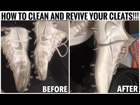 HOW TO CLEAN AND REVIVE YOUR CLEATS!!! GOOD AS NEW!