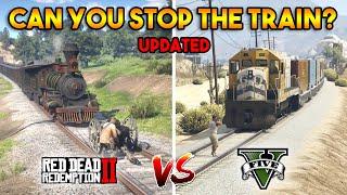 GTA 5 TRAIN VS RDR 2 TRAIN (CAN YOU STOP THE TRAIN?)