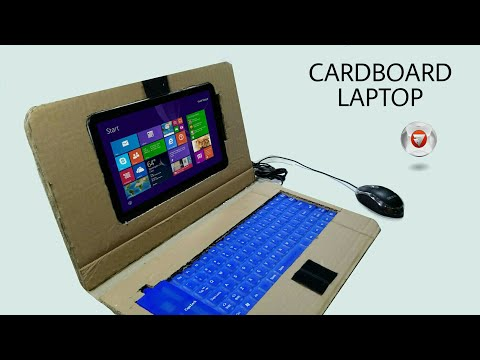 cara membuat laptop dari kardus bekas 💻