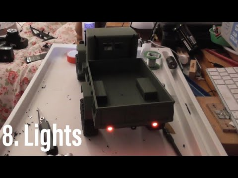 Heng Long 1/16 military truck hobby grade conversion Part 8: front and rear lights