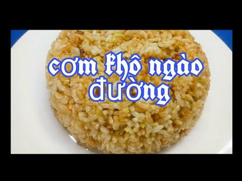 CÁCH LÀM CƠM KHÔ NGÀO ĐƯỜNG GỪNG  Món Ăn Dân Dã | Ginger Sugar Sweet Rice  (Món Ngon Dễ Làm)#31|