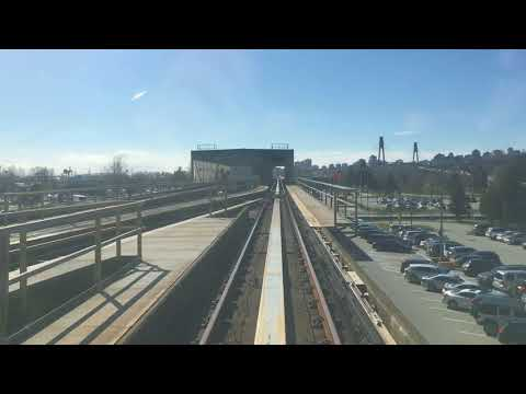 Skytrain Ride from Surrey to New Westminster.