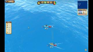 Port Royale 3: Battle (Barc captures Galleon and sinks 2 others)