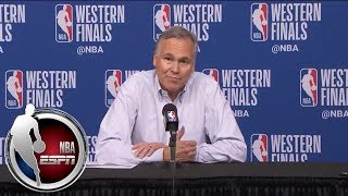 [FULL] Mike D'Antoni: Reporters 'can write an article in one sentence' about Game 2   NBA on ESPN