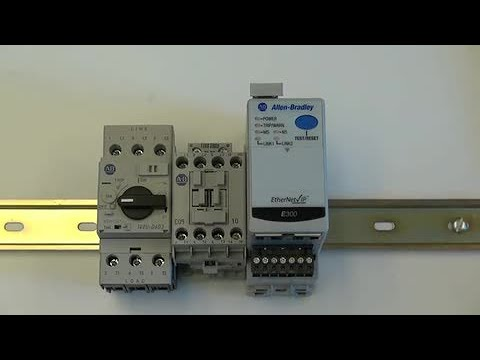 e300 electronic overload relay how to install on a din rail youtube rh youtube com