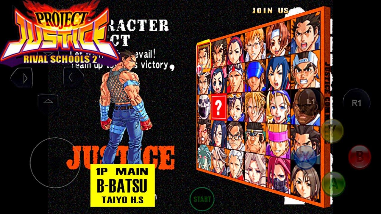 Project justice rival school 2 cdi android desbloqueado todos los personajes